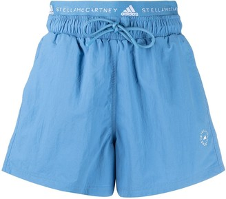 adidas by Stella McCartney Logo-Waistband Shorts