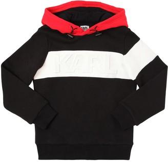 Karl Lagerfeld Paris Color Block Cotton Sweatshirt Hoodie