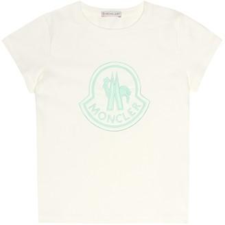 Moncler Enfant Embroidered cotton T-shirt