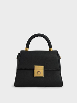 Charles & Keith Trapeze Top Handle Bag