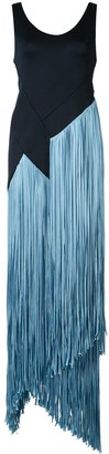 Galvan Fringed Asymmetric Dress