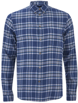 Paul Smith Men's Tailored Fit Check Shirt Blue