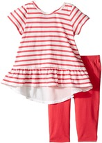 Splendid Littles Striped Top with Solid Leggings Girl's Active Sets