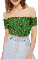 Topshop PETITE Floral-Printed Crop Top