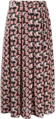 Aspesi Floral Print Skirt