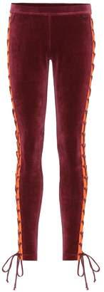 Rihanna Fenty By Embellished velour leggings