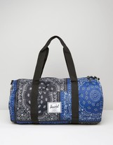 Herschel Supply Co Sutton Barrel Bag In Bandana Print 28l