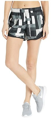 Nike Tempo Shorts Geo Print (Black/Black/Grey) Women's Shorts