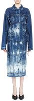 Stella McCartney Tie-Die Denim Bungee Cord Dress, Bluette