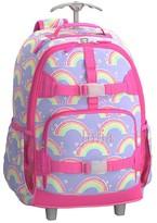 Pottery Barn Kids Rolling Backpack, Mackenzie Lavender Rainbow