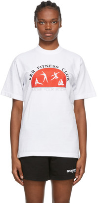 Sporty and Rich White SandR Fitness Club T-Shirt