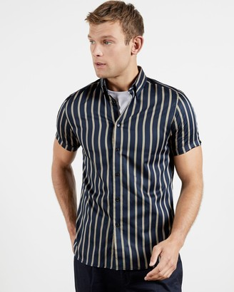 Ted Baker Cotton Bold Striped Shirt