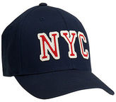 Aeropostale Mens Linear Nyc Fitted Hat Blue