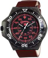 Converse Men's VR008650 Foxtrot Culture Distressed Red Strap Watch