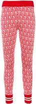 Gucci Mushrooms jacquard knit leggings - women - Cotton/Viscose - XS