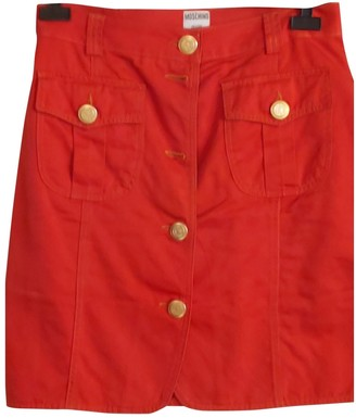 Moschino Cheap & Chic Moschino Cheap And Chic Red Cotton Skirt for Women Vintage
