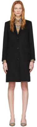 Burberry Black Cashmere Bramley Coat