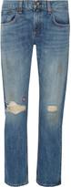 Rag & Bone Embroidered distressed boyfriend jeans