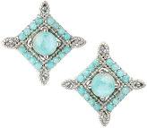Jude Frances Encore Sterling Silver Amazonite/Moonstone Stud Earrings
