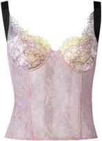Natasha Zinko lace corset top - women - Cotton/Nylon/Polyamide/Polyester - 32