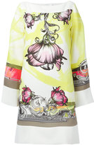 Versace floral print shift dress - women - Polyester/Viscose - 48