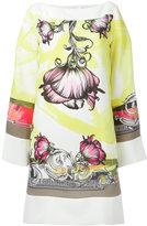 Versace floral print shift dress