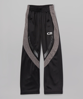 CB Sports Black & Gray Track Pants - Boys
