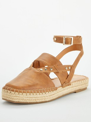 Very Maha Ankle Strap 2 Part Chunky Espadrille - Tan