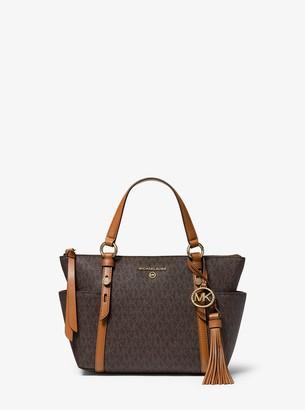 MICHAEL Michael Kors Nomad Small Logo Top-Zip Tote Bag