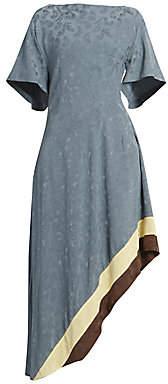 Loewe Women's Asymmetric Jacquard Midi Dress