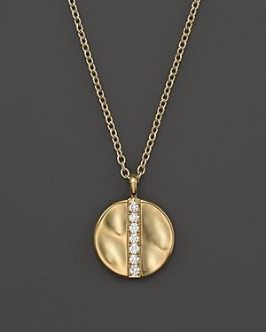 Ippolita 18K Gold Glamazon Stardust Medium Disc Pendant Necklace with Diamonds, 16