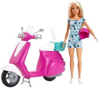 Mattel Barbie Doll and Scooter