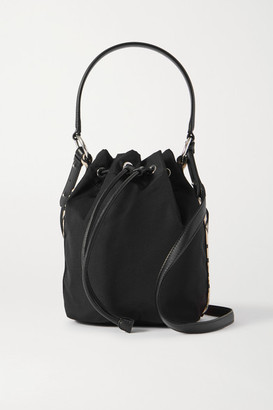 Stella McCartney Small Faux Leather-trimmed Econyl Bucket Bag - Black