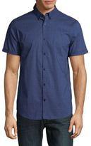 Calvin Klein Patterned Short Sleeve Sportshirt