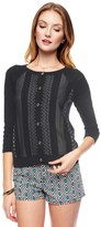 Juicy Couture Outlet - MULTI PATTERN STRIPE CARDIGAN