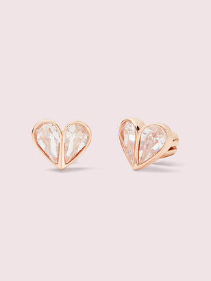 Kate Spade Rock Solid Stone Small Heart Studs