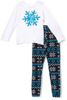 Beary Basics Blue 'Let It Snow' Long-Sleeve Tee & Leggings - Toddler & Girls
