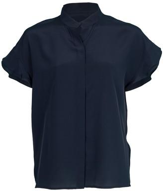 Frame Flounce Sleeve Silk Blouse