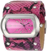EOS New York Women's 76LFUS Snake Leather Strap Watch