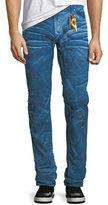 Robin's Jeans Distressed Denim Slim-Straight Jeans