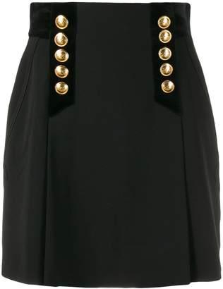 Alberta Ferretti button detail mini skirt
