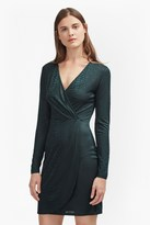 French Connection Snake Jacquard Wrap Dress