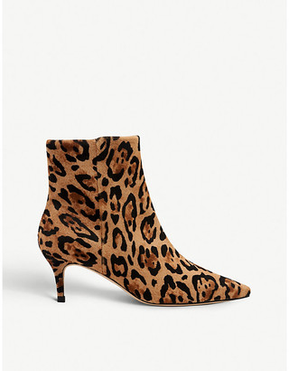 LK Bennett Tamara animal-print calf hair ankle boots