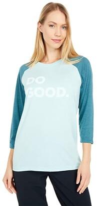 Cotopaxi Do Good Baseball T-Shirt (Glacier/Submarine) Women's Clothing
