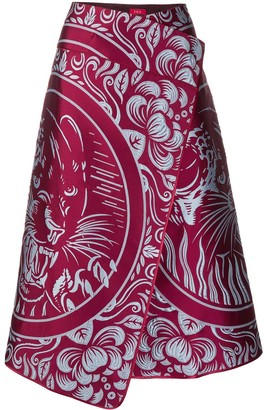 F.R.S For Restless Sleepers Panther Print Wrap Skirt