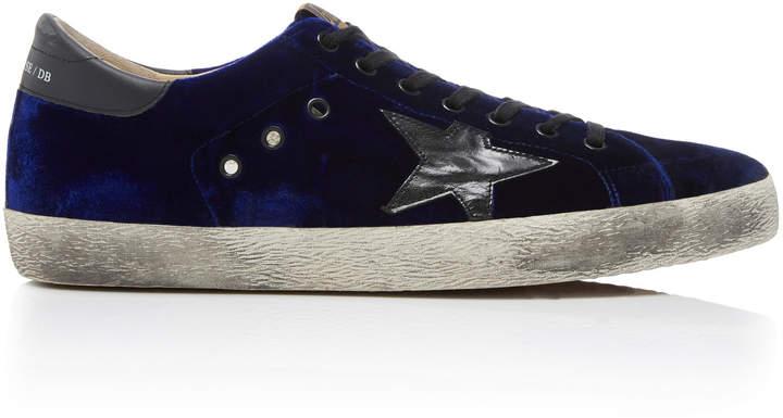 Golden Goose Super Star Velvet Sneakers