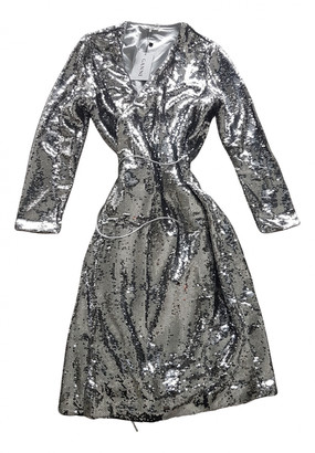 Ganni Spring Summer 2019 Silver Synthetic Dresses