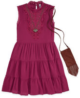 Knitworks Knit Works Sleeveless Skater Dress w/ Purse & Necklace- Girls' 7-16