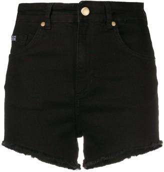 Versace Asymmetrical Denim Cut-Off Shorts