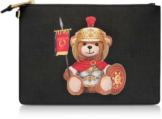 Moschino Teddy Bear Flat Clutch w/Wristlet